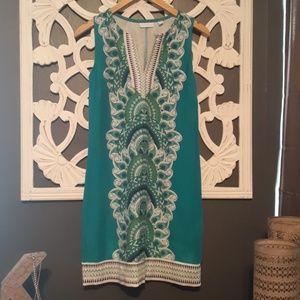 Cute split neck sheath dress